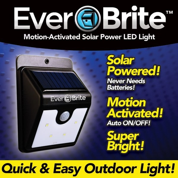 Ever Brite motion-activated solar power led light.