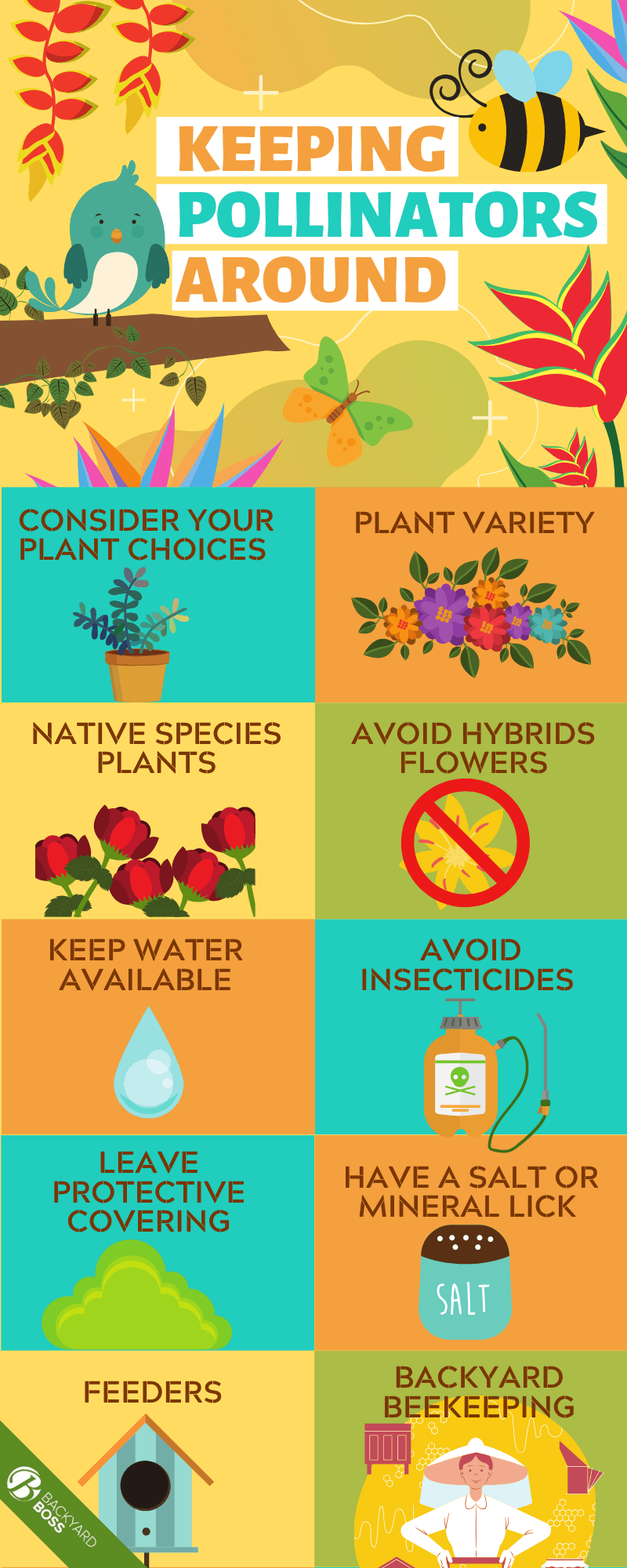 Keeping Pollinators Around - Infographic