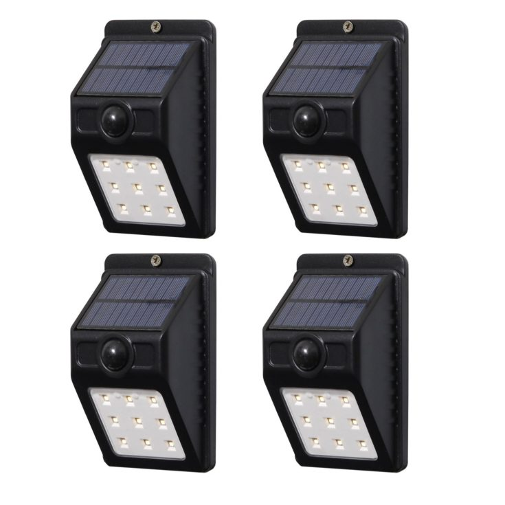 100 Lumen Solar Motion-Activated Lights (4 Pack)