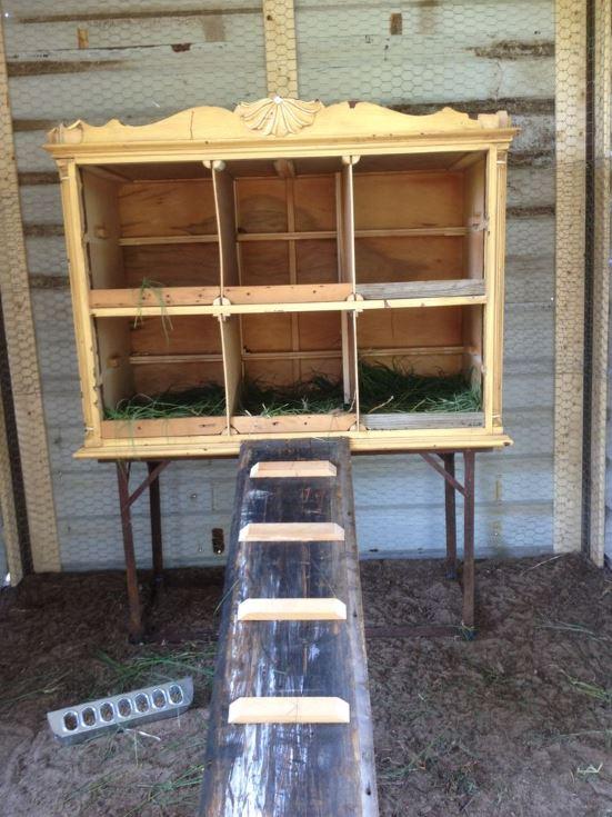 old dresser nesting box