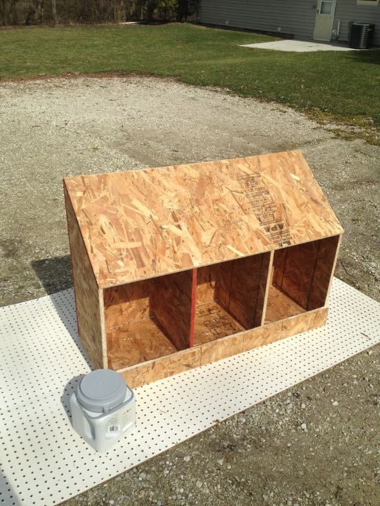 wooden Full Chicken Coop Plans on the backyard