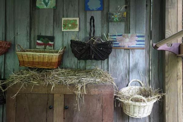 nesting basket on the wall