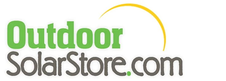 Outdoor Solar Store logo in white background