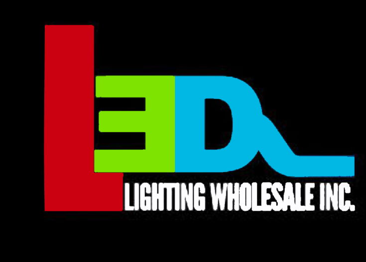 LED Lighting Wholesale logo in black background
