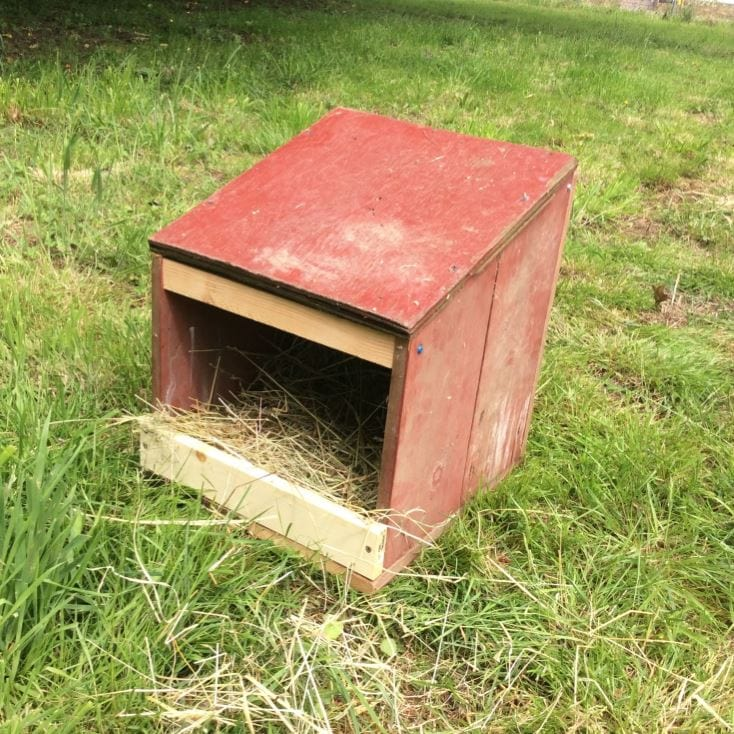 wooden Nesting Box on the grass