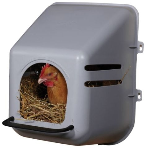 Miller Manufacturing 163620 Single Chicken Nesting Box for Birds