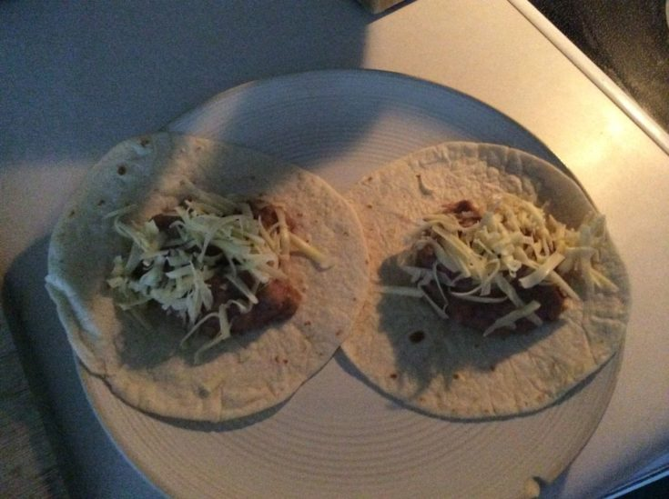 Bean and Cheese Burrito on plate.