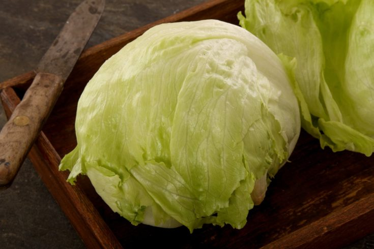 fresh salad leaves