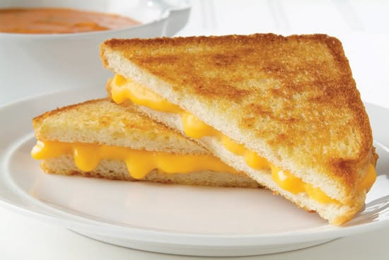 Grilled Cheese sandwich on a plate.