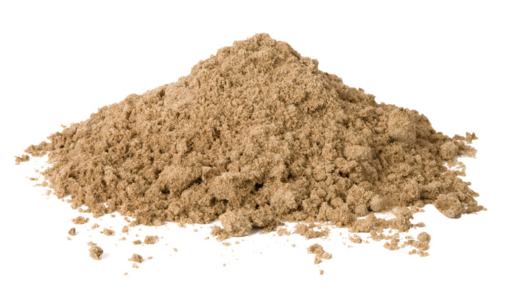 Pile of Sand isolated in white background