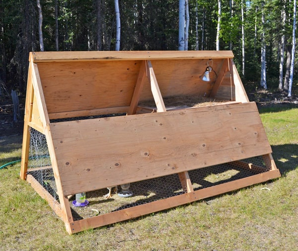 A Frame Chicken Coop Tractor