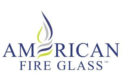 American Fire Glass logo isolated in white background