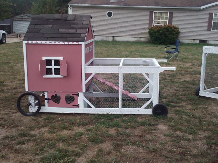 small tractor coop for bantams