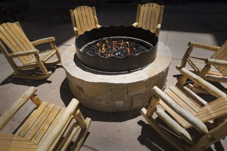 Large outdoor fire pit