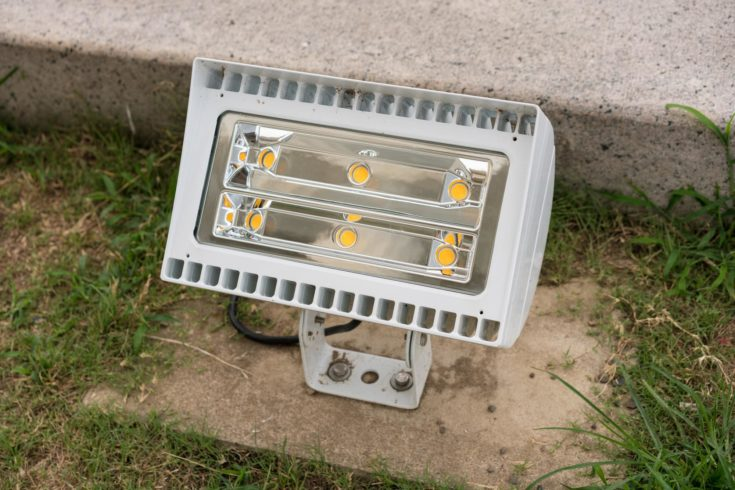 Powerful industrial flood or spot light for illuminating public buildings in DC