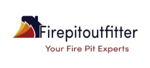 FirePit-Outfitter logo isolated in white background