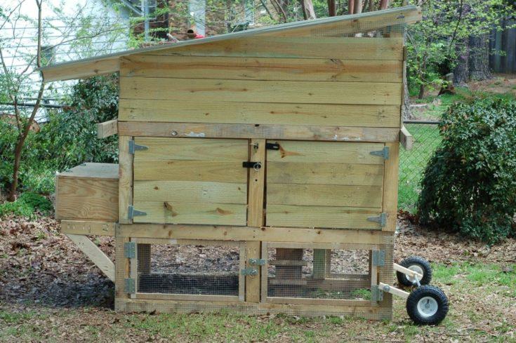 Reclaimed Chicken Tractor Coop