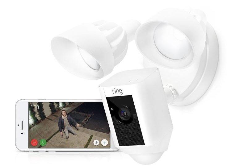 Ring Floodlight Camera, cellphone