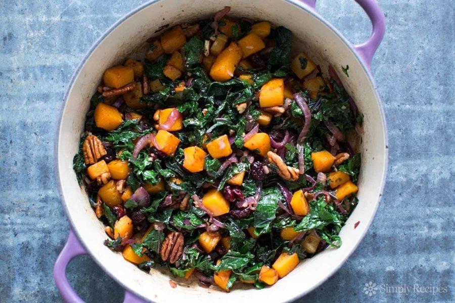 Roasted Butternut Squash Kale Sauté recipe