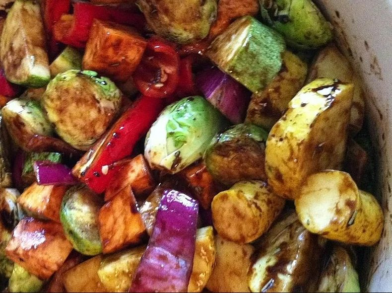 Roasted Seasonal Vegetables with Winter Squash Recipe