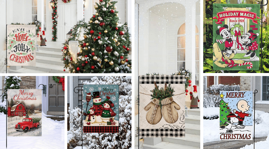 Magic Garden Christmas Special 2020 34 Best Christmas Garden Flags for Your Home This Season