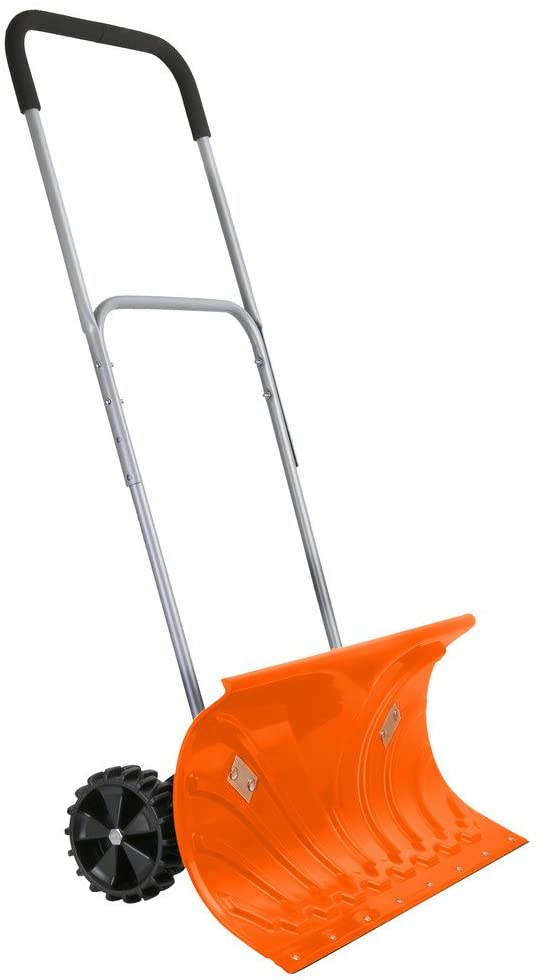 Ivation Snow Shovel with Wheels