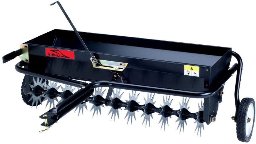 Brinly AS-40BH Tow Behind - Best Drop Spreader: Accurate Fertilizer Coverage