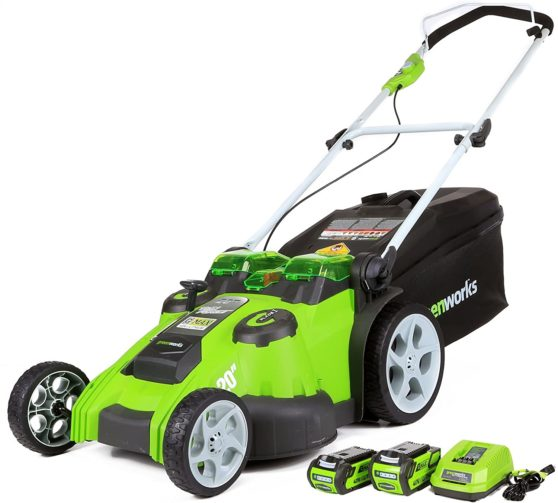 Greenworks 40V 20-Inch Cordless Twin Force Lawn Mower - The Best Cordless Electric Lawn Mowers for Your Yard