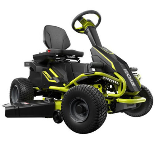 Ryobi 100 Ah Battery Electric Rear Engine Riding Mower - The Best Cordless Electric Lawn Mowers for Your Yard