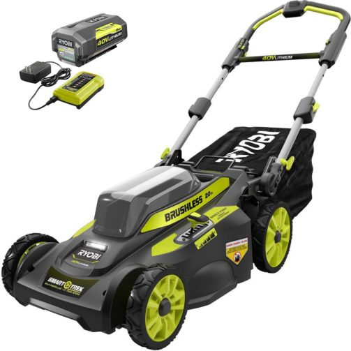 Ryobi 20-Inch 40V 6.0 Ah Brushless Cordless Walk-Behind - The Best Cordless Electric Lawn Mowers for Your Yard