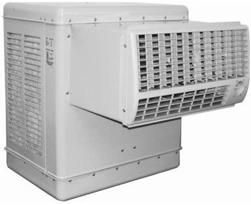 A large white swamp cooler; the sort that mounts on a roof top.