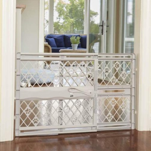 North States MyPet Paws 40 Inch Portable Pet Gate