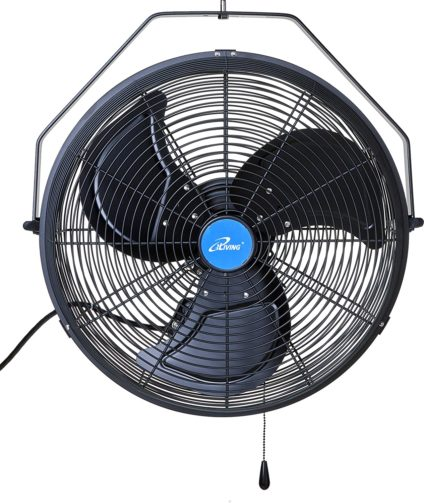 iLIVING Wall Mounted Variable Fan with Misting Kit