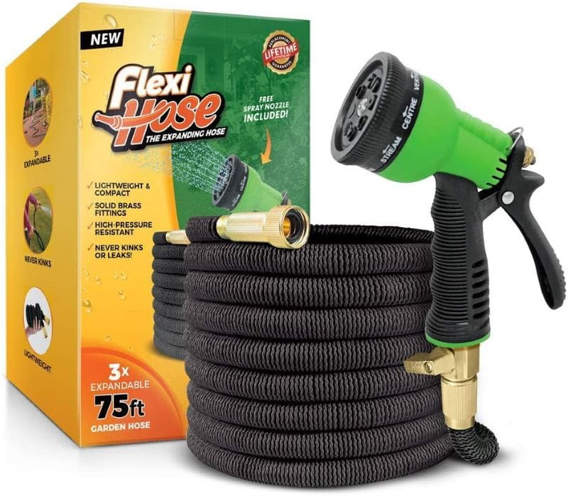 Flexi Hose in Front of Box with Lifetime Warranty