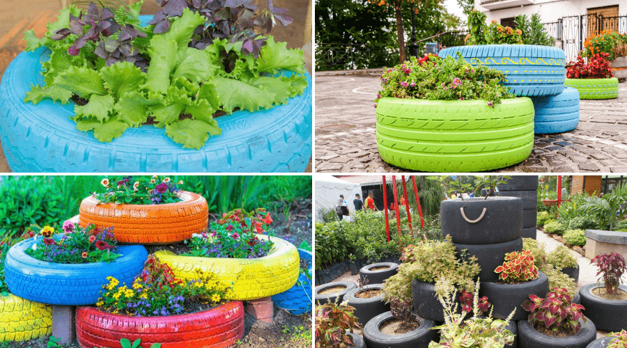 Featured Image - THE BEST TIRE PLANTER IDEAS