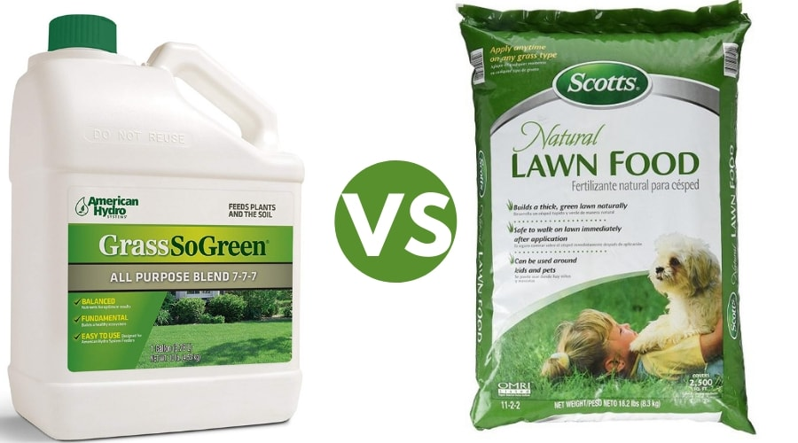 Featured Image - LIQUID LAWN FERTILIZER VS GRANULAR FERTILIZER COMPARISON TABLE