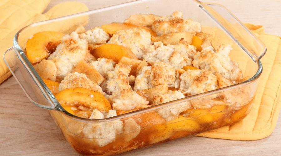 Featured Image - MAKE AHEAD PEACH COBBLER_ TASTE THE SUNSHINE ALL YEAR LONG!