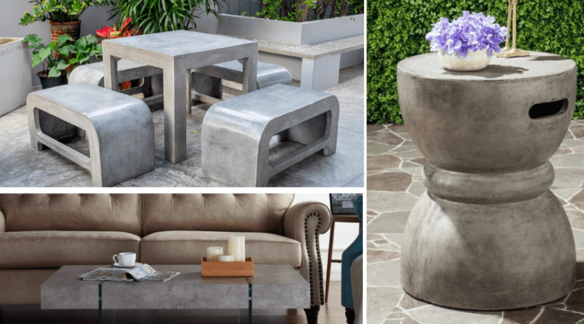 Featured Image - DIY CONCRETE FURNITURE IDEAS!