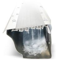 the leaffilter guard with water running over