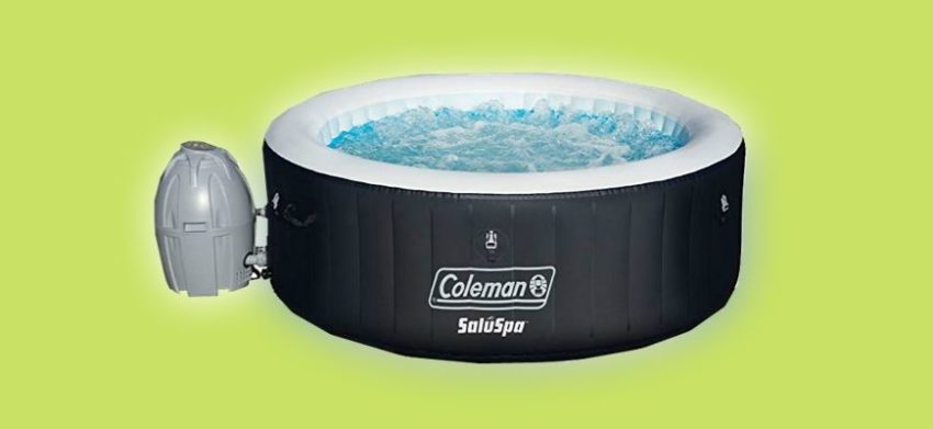 Coleman Saluspa in light green background