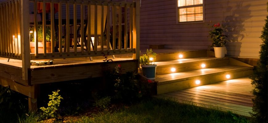 Solar Deck Lighting at night