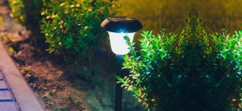 solar light on the pathway