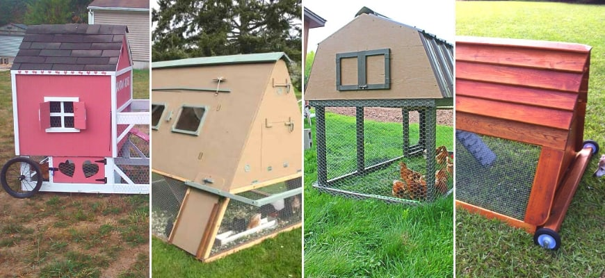 Make Your Hen House Portable - 4 examples of portable chicken coop