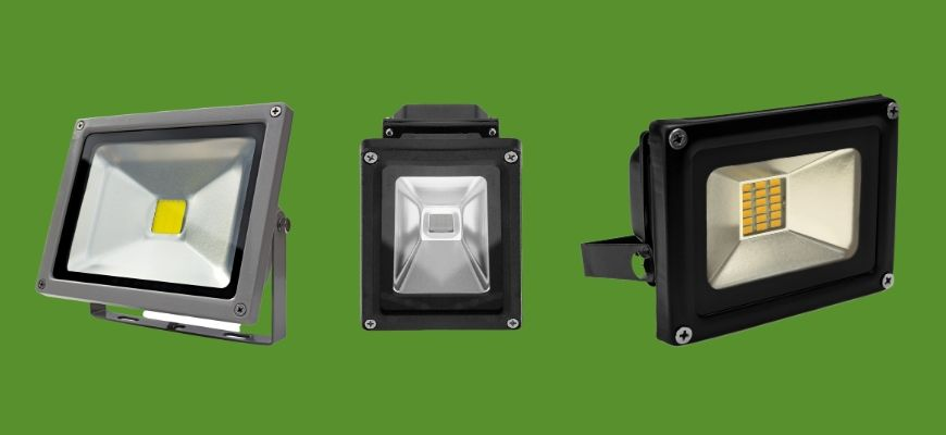 Outdoor Flood Lights in green background