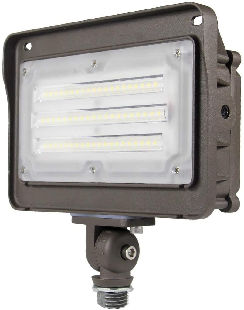LED Flood Light, Dusk-to-Dawn Photocell