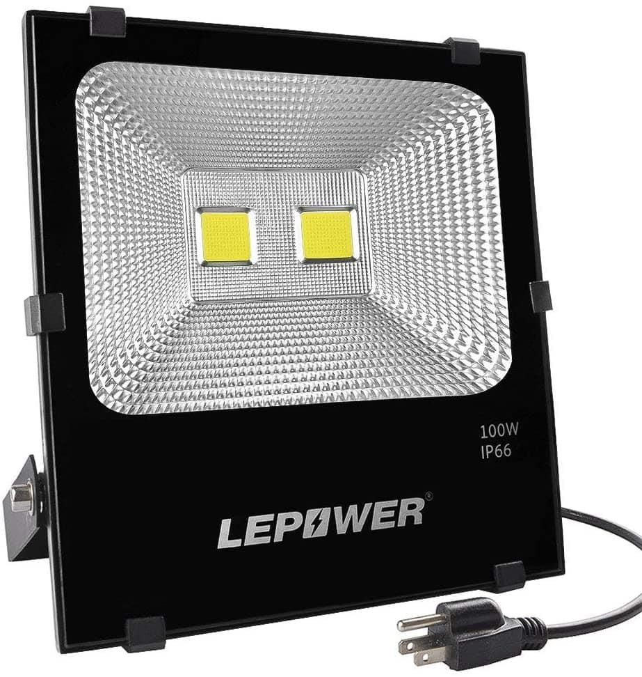 LEPOWER 100W LED Flood Light Outdoor