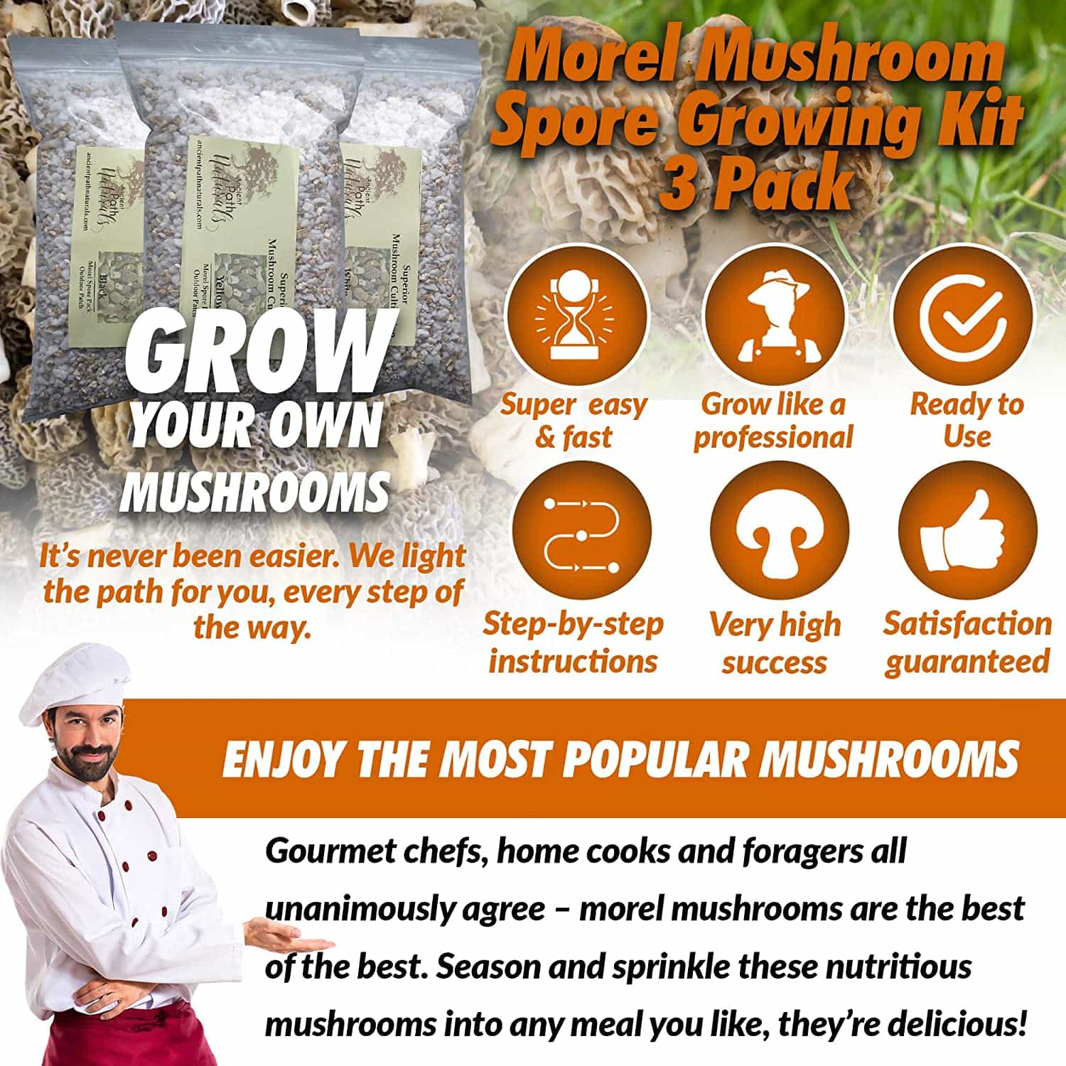 Morel Mushroom Spore Growing Kit