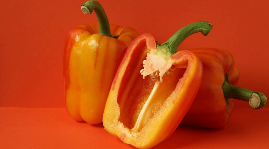 half bell pepper red orange