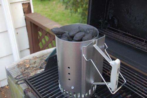 Charcoal Chimney Lighting Method