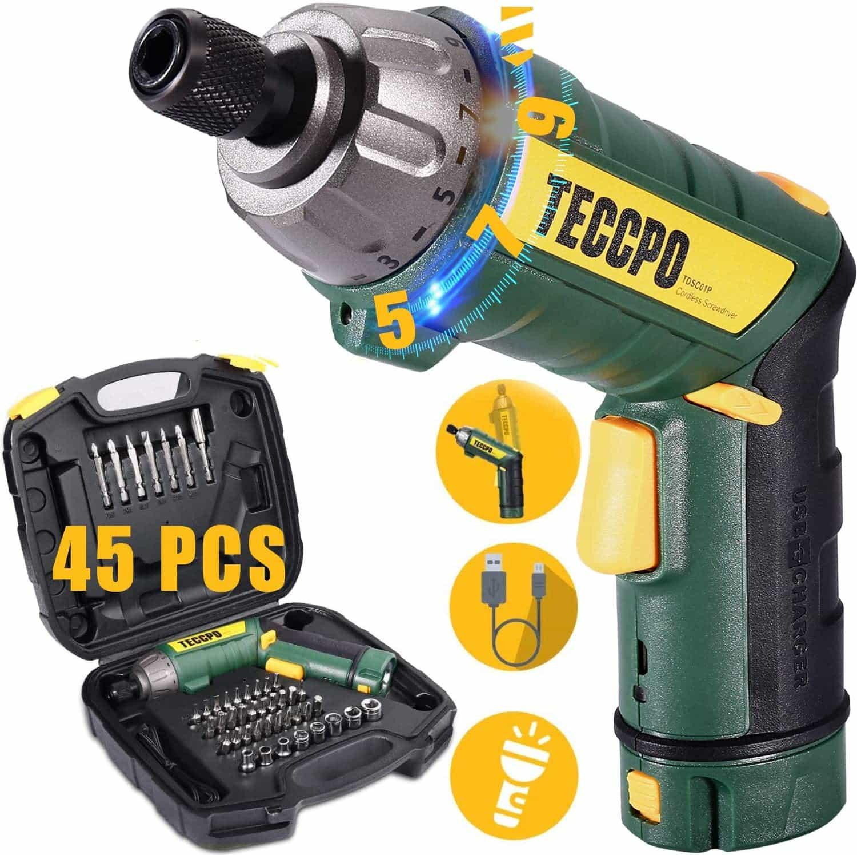 TECCPO Cordless Screwdriver